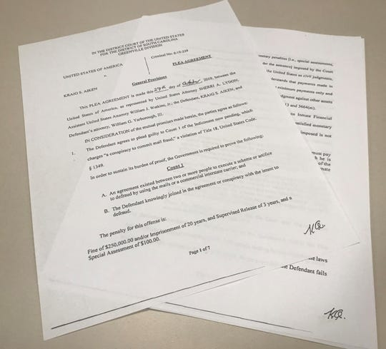 California businessman Kraig Aiken has agreed to plea guilty to a charge of conspiracy to commit mail fraud.
