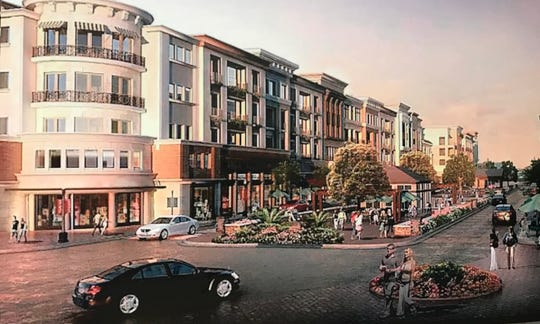 An image from Avalon, a mixed use development in Alpharetta, Georgia, that Mauldin has presented as a conceptual idea for the city's planned city center project.