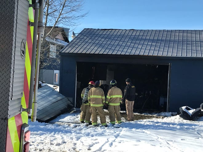 Great Falls Fire Rescue responded to a garage fire on the south side of Great Falls Wednesday afternoon.