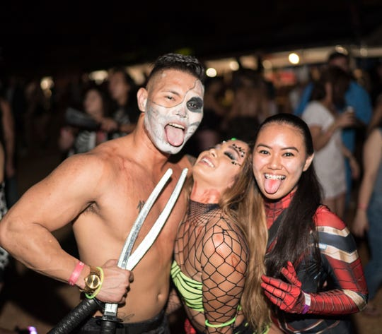 Zombies, superheroes, and fairytale characters danced through the night at Electric Island Festival's Zombeat event Oct. 26, 2019, at the Guam International Raceway.