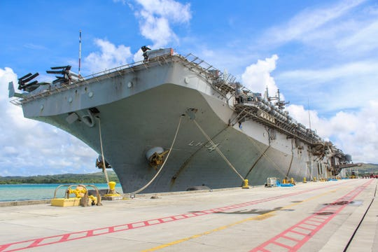 The Boxer Amphibious Ready Group and the 11th Marine Expeditionary Unit arrived in Apra Harbor in Santa Rita Oct. 30.