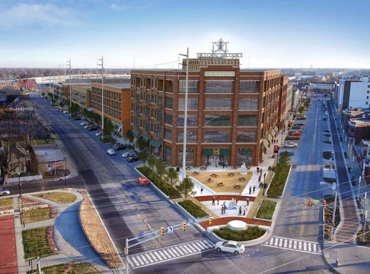 The Bottleworks District is a $300 million food, retail, residential and entertainment complex that will open in Indianapolis in 2020.