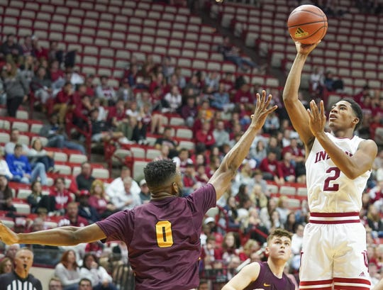 Armaan Franklin scored a game-high 14 points in IU's exhibition game against Gannon.