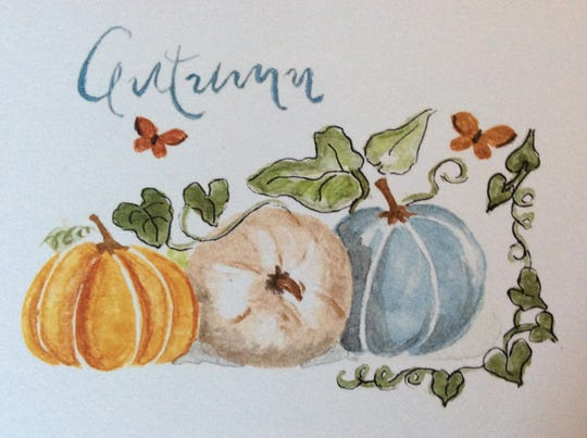 Not only do squashes taste good, they make nice art subjects too thanks to their varied  colors.