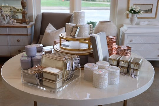 Relish, an interior design business, stocks gifts such as candles.