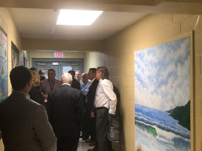 Gov. Bill Lee, mayors, superintendents, county commissioners and state legislators toured Carroll Academy, a day treatment facility for at-risk youth, Tuesday.