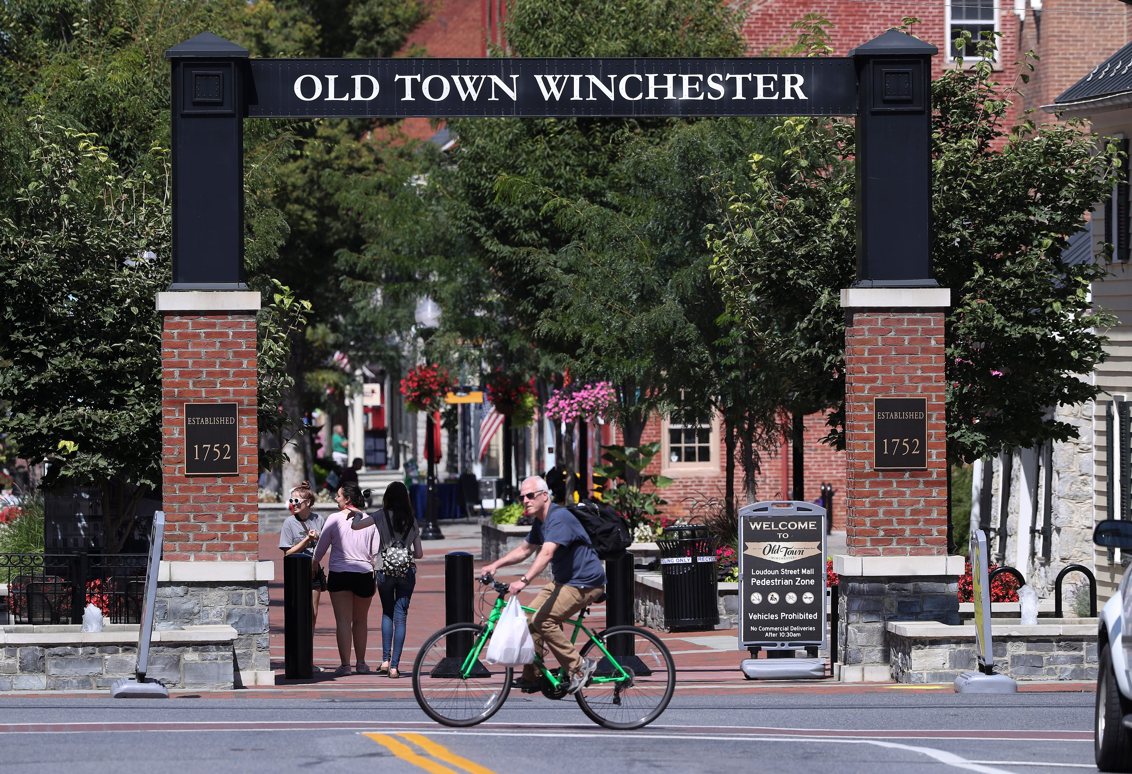 The walking mall in downtown Winchester, Virginia. Prosecutors in 2018 said drugs were trafficked by associates connected to Mexico's Cártel de Jalisco Nueva Generación, or CJNG.