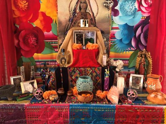 The Dia de los Muertos ofrenda at 1619 Flux Art + Activism.