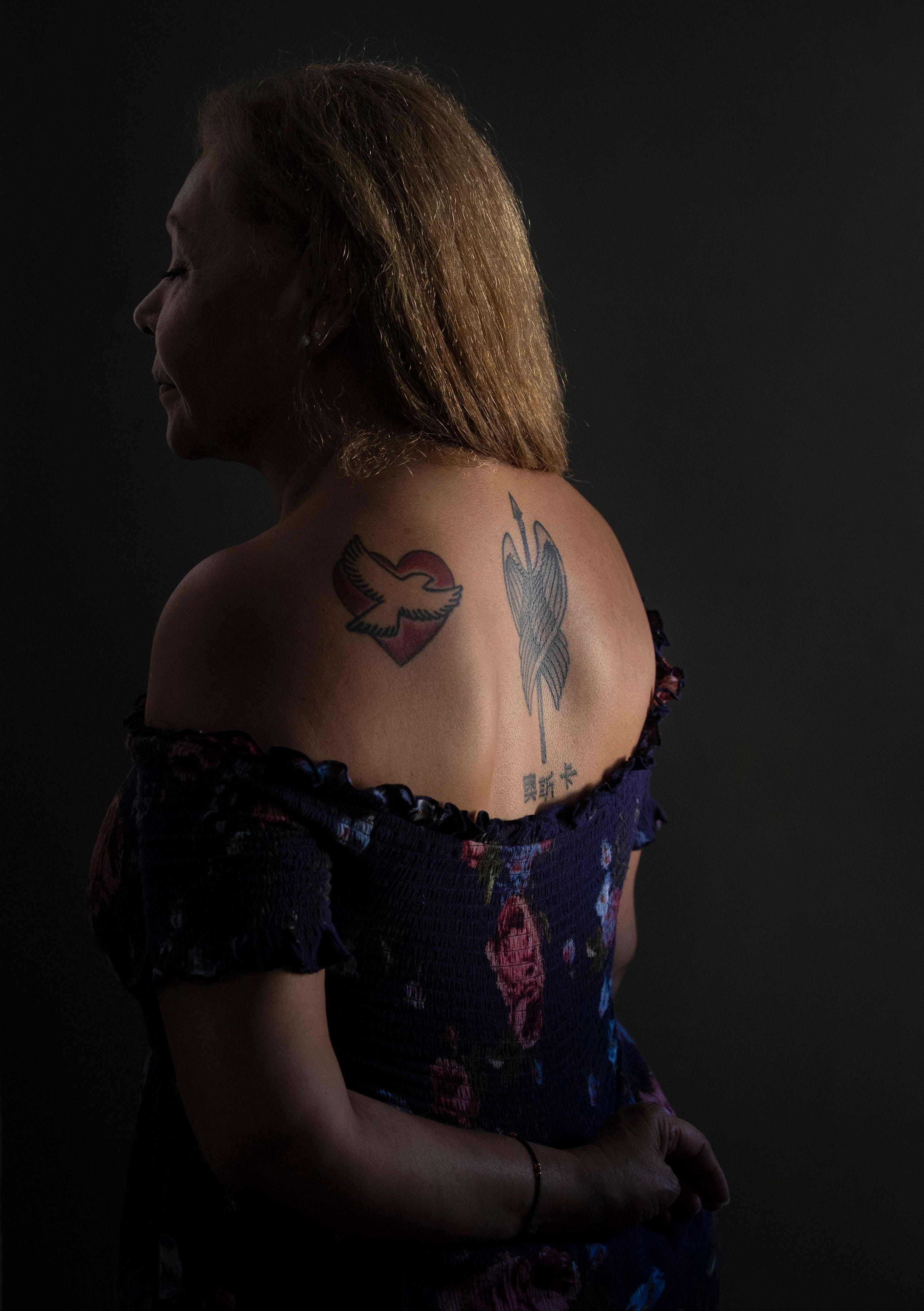 Carmen Macias, 62, got a tattoo in the center of her upper back to honor her son, Oscar, who vanished in 2014 after one mistake trapped him in a drug cartel's web.