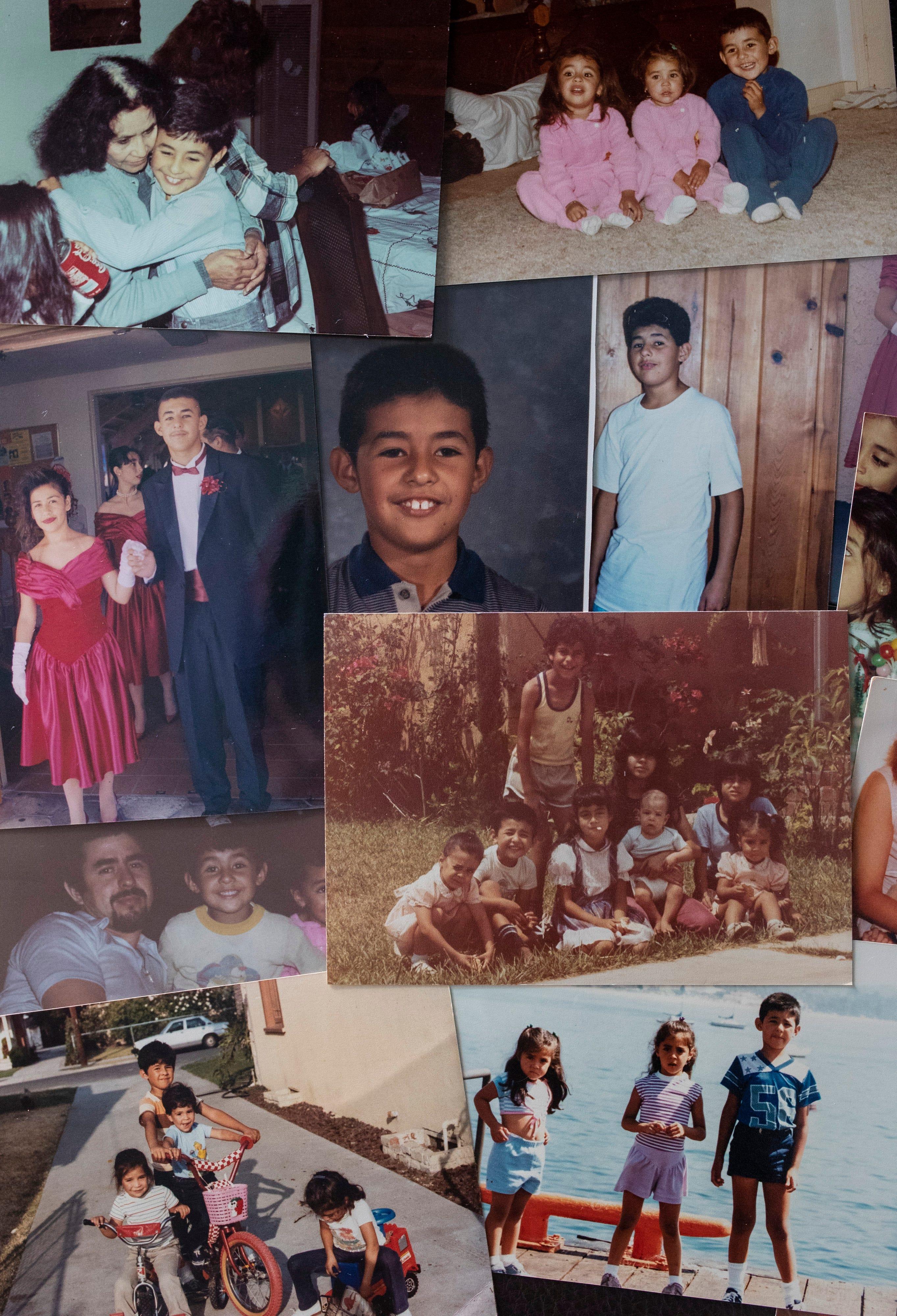Family photographs of Oscar Macias through the years.