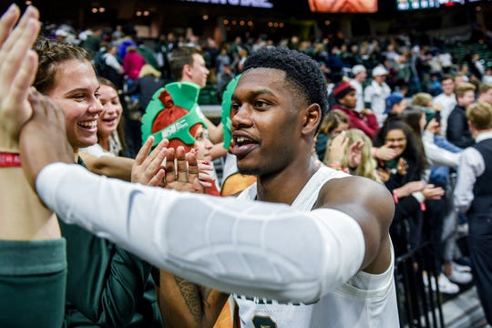 Michigan State's Albion's during the second half on Tuesday, Oct. 29, 2019, at the Breslin Center in East Lansing.
