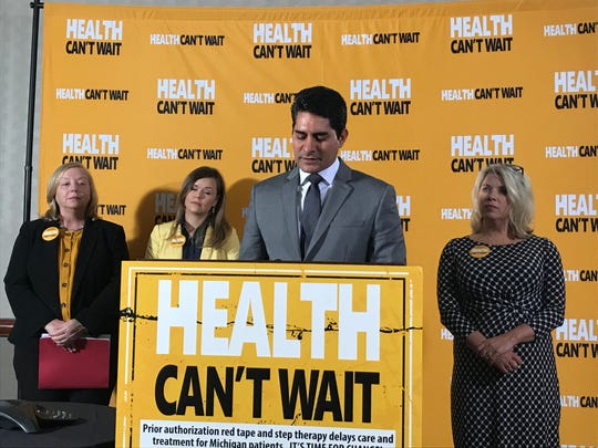 Dr. S. Bobby Mukkamala, Michigan State Medical Society president elect, wants the state to put limits on treatment delays caused by insurance companies.