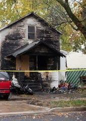 The aftermath of a fire at a home in the 2000 block of New York Avenue near Lake Lansing Road on Oct. 30, 2019,  Three children died and four other people were injured, according to fire officials.