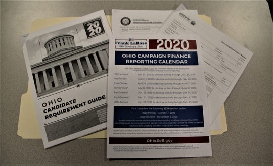 Each participant in the candidate class was given a packet that included a copy of the 2020 Ohio Candidate Requirement Guide, the 2020 Ohio Campaign Finance Reporting Calendar, a copy of the Ohio Campaign Finance Report, and a copy of the Ohio Ethics Commission's Financial Disclosure Statement.