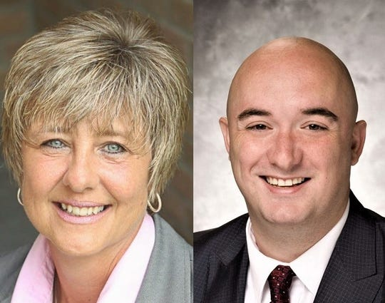 Kelly Carr, left, and Robert Landon, right, are running for Marion City Auditor.