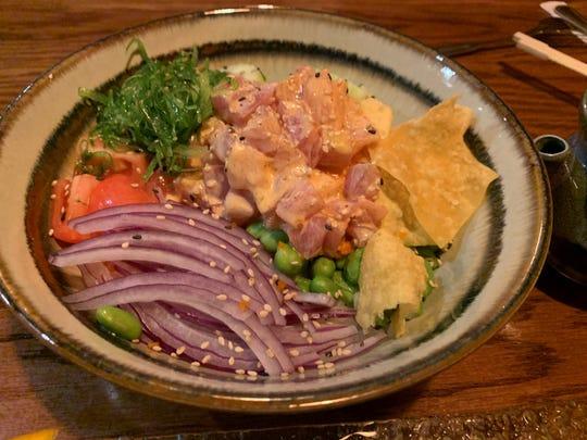 "The ""Marco Poke"" bowl from Thai Thai Sushi Bowl, South Naples."