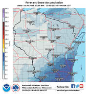 Snow is forecast for eastern Wisconsin as the work week winds down, but forecasters say significant uncertainty remains surrounding the storm.