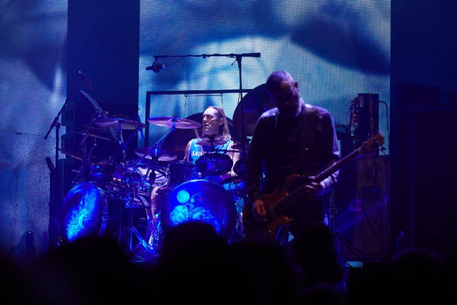 "Tool performs at a previous date of their ""Fear Inoculum"" tour. The metal band played Milwaukee's Fiserv Forum on Halloween."