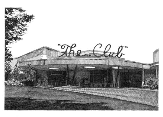 This drawing of The Club in Birmingham is one of five pieces by artist Melissa B. Tubbs being presented by MABCA on Nov. 7.
