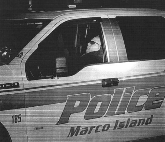 Marco Island police officer Edward Carey was caught sleeping on duty in August.