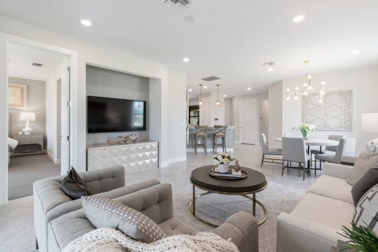 The Cascadia is one of seven model homes being presented by Del Webb Naples during the Tour of Homes at Ave Maria.