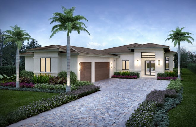 The three-bedroom, three-bath plus study Lynford floor plan in Cabreo at Mediterra offers 3,003 square feet under air.