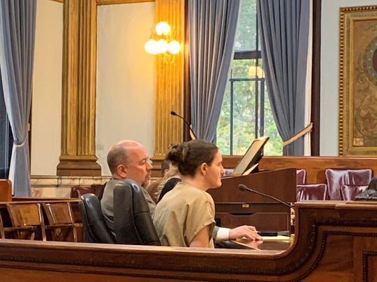 Angela Walsh (right) appeared in Licking County Common Pleas Court on Wednesday, Oct. 30, 2019 for a change of plea and sentencing hearing. She was convicted of a single gross sexual imposition charge.