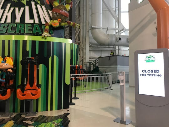 Skyline Scream and other major rides at American Dream's Nickelodeon Universe amusement park were closed for testing days after the complex's Oct. 25 grand opening.