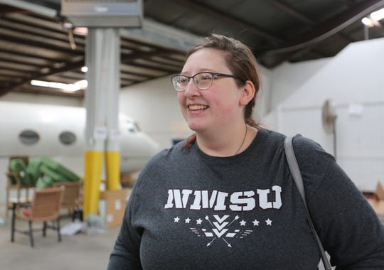 Laura Larson at the Film Las Cruces warehouse, Wednesday Oct. 30, 2019. Larson lives in both Las Cruces and El Paso, and has been working on the newest film to be produced in Las Cruces.