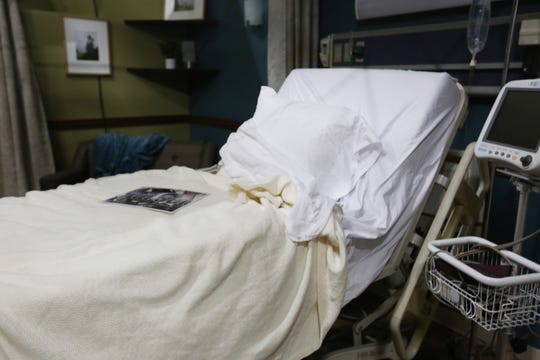 """A makeshift hospital room built at the Film Las Cruces studio, shown Wednesday, Oct. 30, 2019, is for the upcoming film, """"Death in Texas."""""""