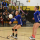 Alexa Sowers receives a serve during the Cavegirls second set against Hobbs Tuesday night in Tasker Arena. Carlsbad lost to the Lady Eagles 3-0.