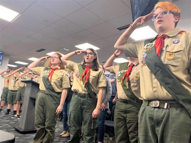 BSA Troop 1814 welcomes girl members.
