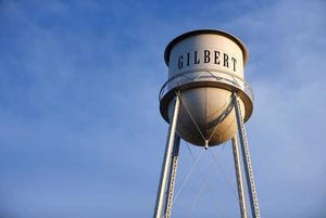 Town of Gilbert water tower.