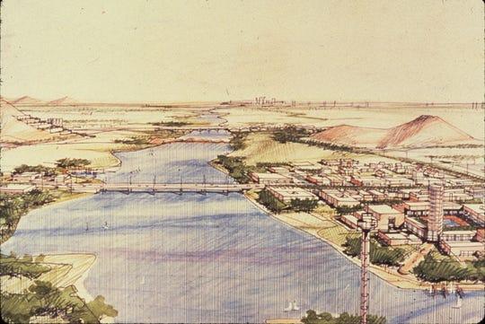 Color rendering of the Rio Salado Project.