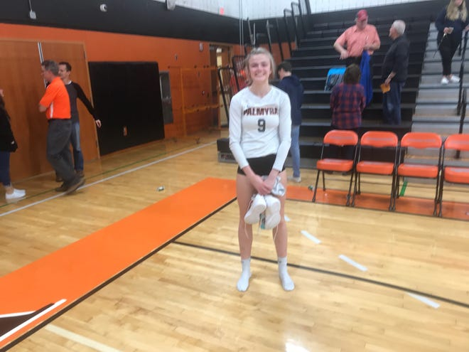 Taylor McInerney turned in another dominant effort in a career filled with them to help Palmyra into the district semifinals with a 3-0 victory over Lancaster Catholic on Tuesday night.