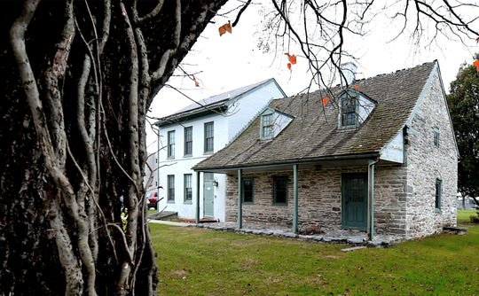 The historic Strickler Farmhouse in Springettsbury Township, Wednesday, Oct. 30, 2019, will be photographed and thoroughly documented, the first step in a process that could end with the home's demolition. Bill Kalina photo