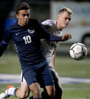 Dallastown's Gabe Wunderlich, left, earned all-state honors this season.