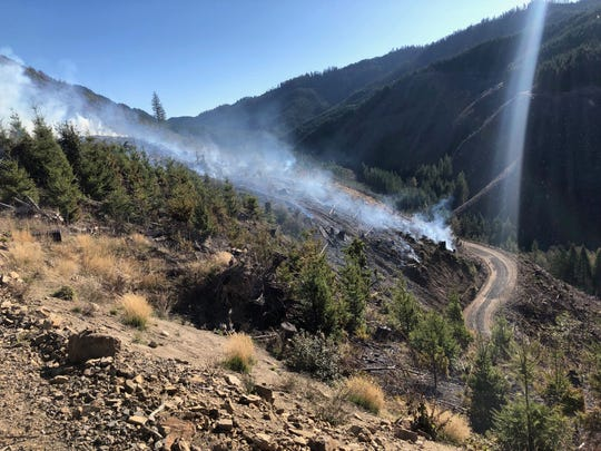 The Crankshaft Fire, located about 6 miles south of Gates, is an estimated 25 acres.