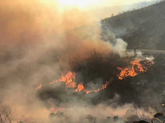 The North Fork Fire burning 16 miles southeast of Molalla is currently reported at 65 acres.