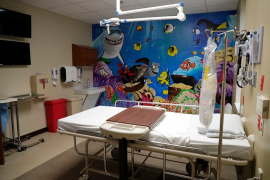 The pediatric and bariatric patient room in the Capital Regional Medical Center Southwood Emergency Room.