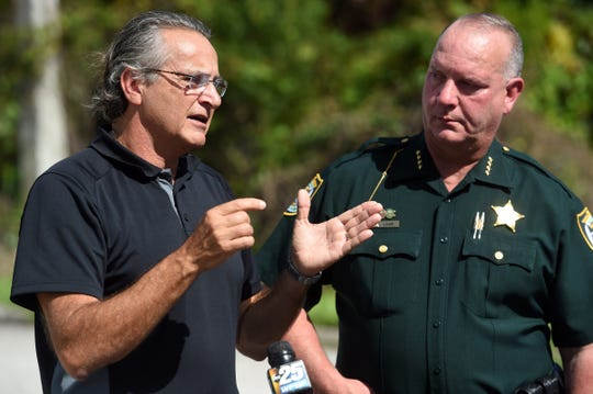 Patrick Tomassi speaks to the media on Wednesday, Oct. 30, 2019, during a press conference with Indian River County Sheriff Deryl Loar and detective Greg Farless (not pictured) concerning new details in the 2018 disappearance of Tomassi's wife, Susy Tomassi. A new video was released by the Indian River County Sheriff's Office in hopes that new tips will come in from the public.