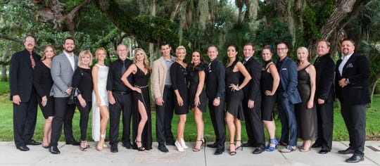 The Dancing with Vero's Stars 2020 instructors and dancers are, from left, Robert Scott with Star Dancer Carrie Ludicke Adams, Star Dancer Joseph Stoddard with Karren Walter, Amy Trammell with Star Dancer Dr. Anand Haryani (not pictured), Joe Wynes with Star Dancer Dee Kimberlin, Nick Dimitrov with Star Dancer Kristina Pernfors, Star Dancer Alexandra Nuttall with Joe Tessier, Marianella Tobar with Star Dancer Dr. Jeffrey Brown, Shari Tessier with Star Dancer Dr. David Dinan, Star Dancer Kimberly Nardone with Barry Johnson, Star Dancer Mike Young with Kaylan Keathley (not pictured).  The main event is set for 6 p.m. May 9 at Riverside Theatre in Vero Beach. Proceeds will benefit Indian River County Healthy Start Coalition and Riverside Theatre's programs and services. For details, visit www.dancingwithverostars.com or call 772-231-6990.