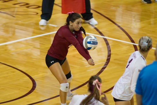 Eastlake graduate Analyssa Acosta has been a key figure on defense for New Mexico State this season.