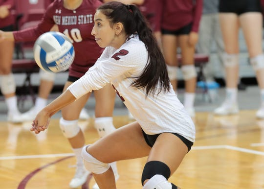 Eastlake graduate Analyssa Acosta has become a significant player for New Mexico State University in her final year of college play.