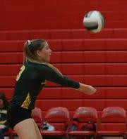 Lakeland's Emily Kubicsko (3) returns the ball during Section 1 Class A Quarterfinals girls volleyball game at Tappan Zee High School in Orangeburg Oct. 29, 2019. Lakeland defeats Tappan Zee.