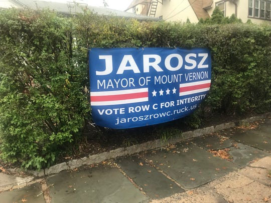Campaign sign for Rosemarie Jarosz on East Lincoln Avenue in Mount Vernon Oct. 29, 2019