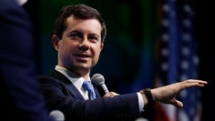 Democratic presidential candidate South Bend, Indiana, Mayor Pete Buttigieg speaks at the J Street National Conference, Oct. 28, 2019, in Washington.