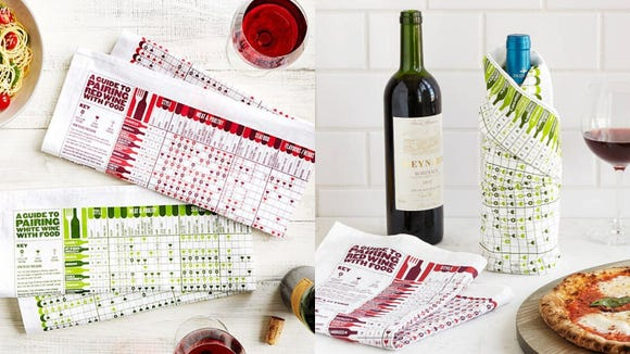 These adorable wine towels are useful for both learning and cleaning spills.