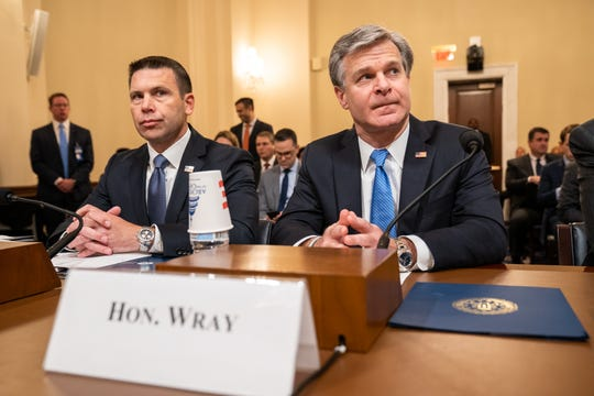 FBI Director Christopher Wray testifies before the House Homeland Security Committee on global terrorism and threats to the homeland on Capitol Hill in Washington, DC on Oct. 30, 2019.