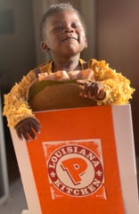 Nidra Cummings wanted a costume that reflected her son's fun personality. Popeyes was it.